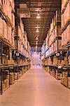 Warehouse Aisle    Stock Photo - Premium Rights-Managed, Artist: Peter Christopher, Code: 700-00588895