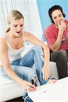 Young Couple at Home    Stock Photo - Premium Rights-Managednull, Code: 700-00588913