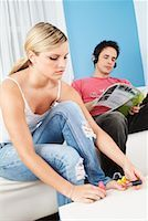 Young Couple at Home    Stock Photo - Premium Rights-Managednull, Code: 700-00588914