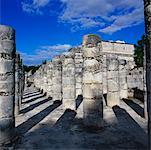 Plaza of The Thousand Columns, Temple of the Warriors, Chichen-Itza, Yucatan, Mexico