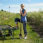 Woman Working In A Saskatoon Berry Field