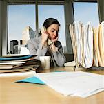 Businesswoman On the Phone At Her Desk    Stock Photo - Premium Rights-Managed, Artist: Marnie Burkhart, Code: 700-00593067