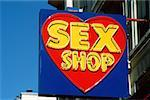 Sex shop sign in Paris