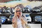 Businesswoman Talking on Cellular Phone    Stock Photo - Premium Rights-Managed, Artist: Steve Prezant, Code: 700-00603421