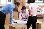 Business People Looking at Floor Plans    Stock Photo - Premium Rights-Managed, Artist: Masterfile, Code: 700-00604482