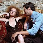 Couple on Sofa    Stock Photo - Premium Rights-Managed, Artist: Masterfile, Code: 700-00604949
