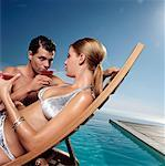 Portrait of Couple in Swimwear    Stock Photo - Premium Rights-Managed, Artist: Masterfile, Code: 700-00604988