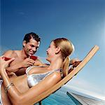 Portrait of Couple in Swimwear    Stock Photo - Premium Rights-Managed, Artist: Masterfile, Code: 700-00604989