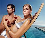 Portrait of Couple in Swimwear    Stock Photo - Premium Rights-Managed, Artist: Masterfile, Code: 700-00604990