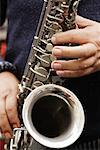 Man Playing Saxophone    Stock Photo - Premium Rights-Managed, Artist: Mark Leibowitz, Code: 700-00605206