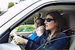 Mother And Son In Car    Stock Photo - Premium Rights-Managed, Artist: Horst Herget, Code: 700-00605653