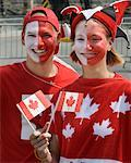 Couple, Canada Day Celebrations, Parliament Hill, Ottawa, Ontario, Canada    Stock Photo - Premium Rights-Managed, Artist: Gary Gerovac, Code: 700-00606392