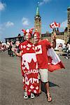 Couple, Canada Day Celebrations, Parliament Hill, Ottawa, Ontario, Canada    Stock Photo - Premium Rights-Managed, Artist: Gary Gerovac, Code: 700-00606393