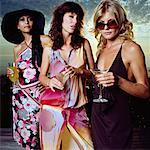 Three Woman At A Cocktail Party    Stock Photo - Premium Rights-Managed, Artist: Masterfile, Code: 700-00606402