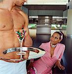 Shirtless Man Serving A Variety Of Drugs to A Mature Woman