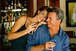 Couple at Bar    Stock Photo - Premium Rights-Managed, Artist: George Shelley, Code: 700-00607510