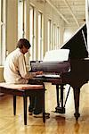 Man Playing Piano    Stock Photo - Premium Rights-Managed, Artist: Michael Goldman, Code: 700-00607721