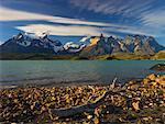 Lake Pehoe and Cuernos del Paine, Torres del Paine National Park, Patagonia, Chile    Stock Photo - Premium Rights-Managed, Artist: Jochen Schlenker, Code: 700-00607771