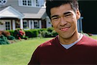 Man in Front of New House    Stock Photo - Premium Rights-Managednull, Code: 700-00608645