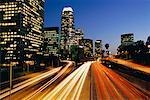 Highway and Skyline, Los Angeles, California, USA    Stock Photo - Premium Rights-Managed, Artist: Brian Sytnyk, Code: 700-00608762