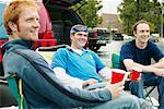 Men at Tailgate Party    Stock Photo - Premium Rights-Managed, Artist: Peter Griffith, Code: 700-00608836