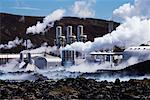 Svartsengi Power Plant, Svartsengi, Reykjanes Peninsula, Iceland    Stock Photo - Premium Rights-Managed, Artist: Jeremy Woodhouse, Code: 700-00609855