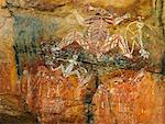 Aboriginal Rock Art, Nourlangie Rock, Kakadu National Park, Northern Territory, Australia