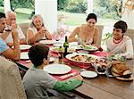 Multigenerational Family Eating Dinner    Stock Photo - Premium Rights-Managed, Artist: Masterfile, Code: 700-00610205