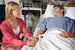 Wife Visiting Husband in Hospital    Stock Photo - Premium Rights-Managed, Artist: Graham French, Code: 700-00610987