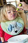 Girl Eating Breakfast    Stock Photo - Premium Rights-Managed, Artist: Roy Ooms, Code: 700-00616893