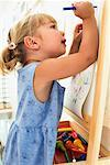 Girl Colouring    Stock Photo - Premium Rights-Managed, Artist: Roy Ooms, Code: 700-00616899