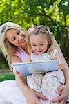 Mother and Daughter Reading    Stock Photo - Premium Rights-Managed, Artist: Michael A. Keller, Code: 700-00617886