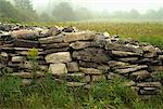 Old Stone Wall, Upper Peninsula, Michigan, USA