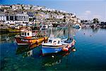 Fishing Boats In Harbour, Mevagissey, Cornwall, England    Stock Photo - Premium Rights-Managed, Artist: J. A. Kraulis, Code: 700-00618402