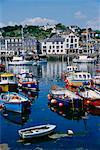 Fishing Boats In Harbour, Mevagissey, Cornwall, England