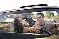 road trip - Couple Driving Car    Stock Photo - Premium Rights-Managednull, Code: 700-00618431
