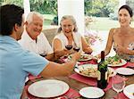 Family Eating Dinner    Stock Photo - Premium Rights-Managed, Artist: Westend61, Code: 700-00618465