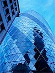 View of the Gherkin, London, England