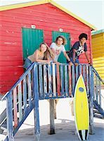 Friends at Beach Hut    Stock Photo - Premium Rights-Managednull, Code: 700-00623335