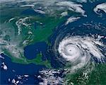 Hurricane Headed for North America    Stock Photo - Premium Rights-Managed, Artist: Rick Fischer, Code: 700-00623393