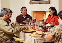 Family at Thanksgiving Dinner    Stock Photo - Premium Rights-Managednull, Code: 700-00623530