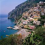 Hill Town of Positano on the Amalfi Coast, Italy Stock Photo - Premium Royalty-Free, Artist: Robert Harding Images, Code: 613-00630611