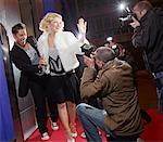 Paparazzi Taking Pictures Of Celebrities    Stock Photo - Premium Rights-Managed, Artist: Masterfile, Code: 700-00634117