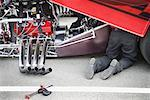 Mechanic Repairing Drag Racer    Stock Photo - Premium Rights-Managed, Artist: Jeremy Maude, Code: 700-00634260