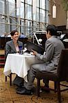 Couple in Hotel Restaurant    Stock Photo - Premium Rights-Managed, Artist: Michael Mahovlich, Code: 700-00635402