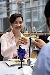 Couple in Hotel Restaurant    Stock Photo - Premium Rights-Managed, Artist: Michael Mahovlich, Code: 700-00635413