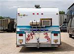 Back of Camper    Stock Photo - Premium Rights-Managed, Artist: David Zimmerman, Code: 700-00635441