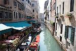 Restaurants Along Canal, Venice, italy    Stock Photo - Premium Rights-Managed, Artist: Philip Rostron, Code: 700-00635773