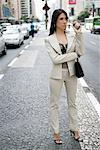 Businesswoman Standing on Road    Stock Photo - Premium Rights-Managed, Artist: Mark Leibowitz, Code: 700-00639341