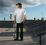 Portrait of Skateboarder    Stock Photo - Premium Rights-Managed, Artist: Mark Peter Drolet, Code: 700-00643309